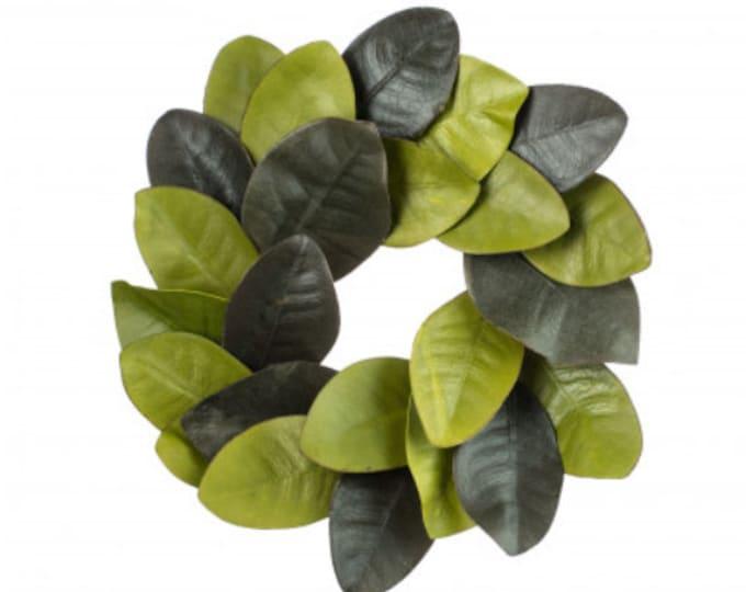 Mini Two-Toned Magnolia Wreath