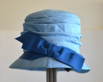 blue woman hats vintage 1950 French