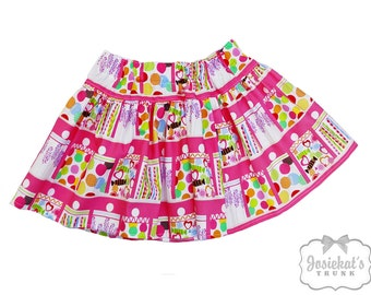 Candy Party Skirt - Girl Twirl Skirt - Pink Candy Twirl Skirt - Infant Candy Skirt - Tween Skirt - Toddler Candy Birthday 6 month to Girl 16