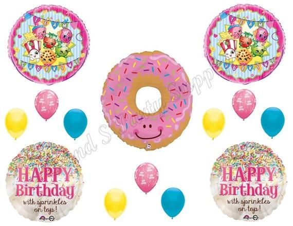Shopkins y donas feliz cumplea os globos decoraci n for Cuartos decorados feliz cumpleanos
