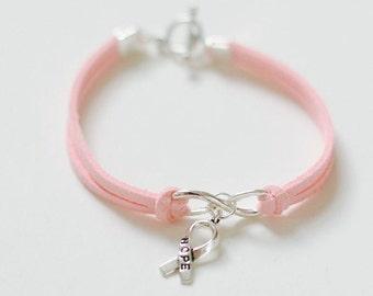 Breast Cancer Awareness Bracelet, Hope Bracelet, Cancer Awareness, Infinity Hope BraceletMinimalist Bracelet