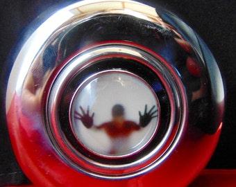Stainless Steel Round Flask Steampunk Coatume
