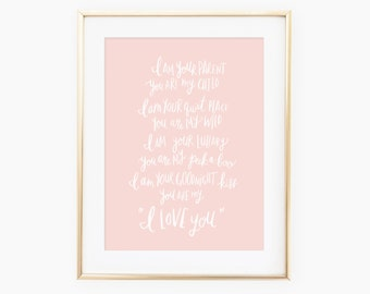 I am your parent you are my child hand lettered quote