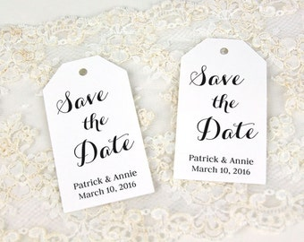 Save the Date Tags - Save the Date - Custom Tags - Wedding Tags - Personalized Tags - LARGE