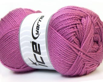balls of yarn in pink Orchid brand ICE 100grs