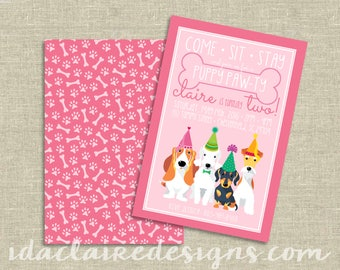 Birthday Party Digital Download | Puppy Pawty Party