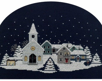 Christmas Eve Village Counted Cross Stitch Pattern