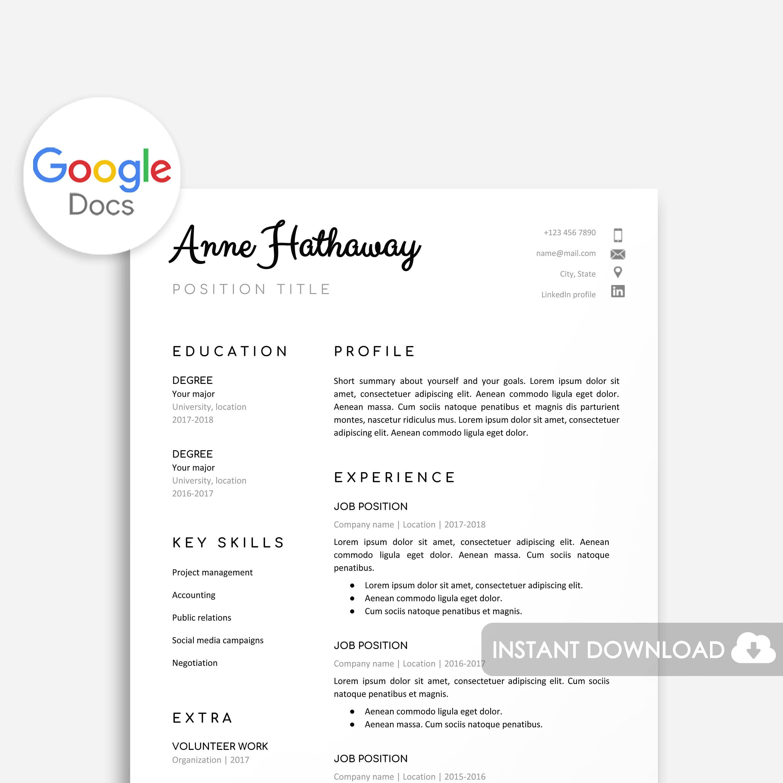 Großzügig Google Docs Lebenslauf Vorlage Englisch Bilder - Entry ...