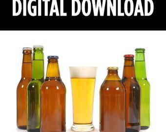 Beer Print, Beer Art, Bar Prints, Kitchen Wall Art, Kitchen Print, Kitchen Art Print, Instant Download Printable Art, Beer Lovers Gift, Beer