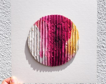 Corrugated Circle Painting III