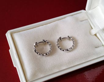 Earring hoop earrings Silver 925 Silver earrings rotated design SO196