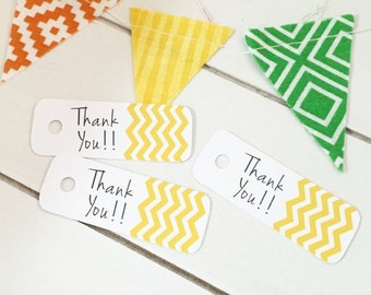 Chevron Gift Tags / Product Packaging Tags / Party Favor Tags / Happy Mail / Thanksgiving Tags / Gift Wrap Supplies / Fall Gift Tags