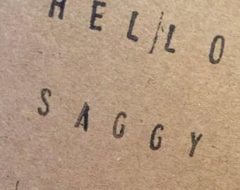 Hello saggy t**s card