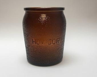 Mid-Century Glass Humidor by Dunn-Rite
