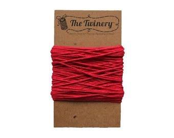 Red Bakers Twine - Solid Maraschino - 15 Yard Bundle