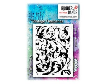 Flourish Stamp, Vintage Flourish, Rubber Dance Stamps, Rubber Stamp, Background Stamp