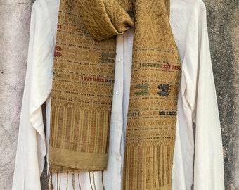Rare Vintage (1940's) Handwoven Cotton Scarf