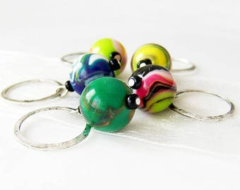 The Big Lebowski - Five Handmade Stitch Markers - 9.0mm (13 US) - Limited Edition