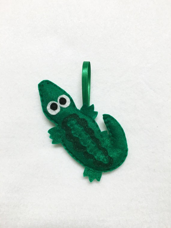 Alligator Ornament, Christmas Ornament, Amy the Alligator, Felt Animal, Everglades, Southern Animal, Gator
