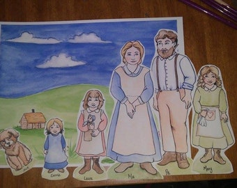 Little House on the Prairie paper dolls