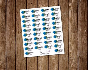 SAMS inspired planner stickers, Shopping Stickers