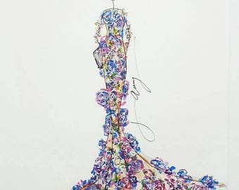 Georges Hobeika Floral Gown - Print
