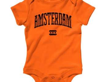Baby Amsterdam Romper - Infant One Piece - NB 6m 12m 18m 24m - Amsterdam Baby - Netherlands - 4 Colors