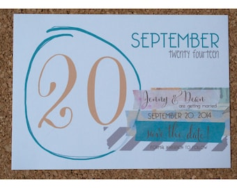 Washi Tape Save the Date