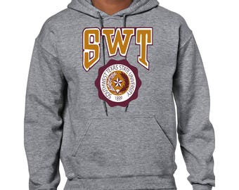 Vintage Southwest Texas State University Heavy Blend Adult Hooded Sweatshirt