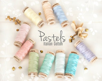 Embroidery Cotton Floss - Aurifil Cotton Floss - Aurifloss Embroidery Thread- Colorful Stitching Floss - 6 Strands - Patel Colors Thread