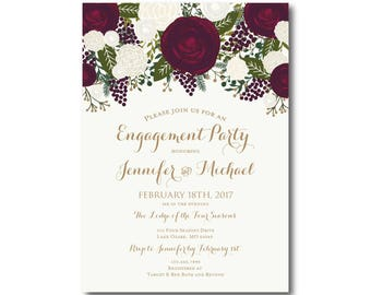 PRINTABLE Engagement Party Invitation Engagement Party Invitation They're Engaged We're Engaged Engagement Party Invitation #CL158