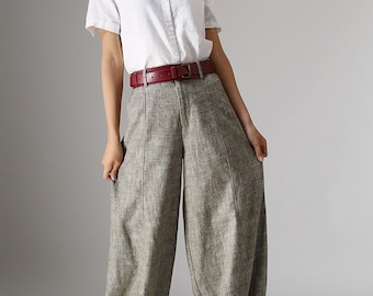 Linen Pants, long linen pants, woman linen pants, Summer linen pants, pants with pockets, casual pants, baggy pants, Custom to made 986