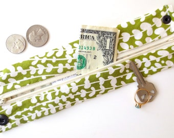 Money  Wrist Cuff Wallet- Secret Stash--Flower bud - hide your cash, coins, health info, jewels, house key