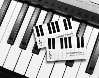 Music Business Card Etsy - Music business card template