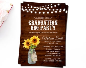 Cookout invitation etsy graduation bbq invitation girl backyard bbq barbeque party cookout invitation summer cookout filmwisefo Images