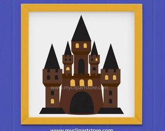 Clipart - Wizard's Castle Clipart (Single Clipart Image) - Digital Clip Art (Instant Download)