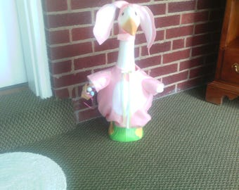 Goose Clothing - Mrs. Easter Bunny Goose Outfit for Plastic or Concrete Lawn Goose
