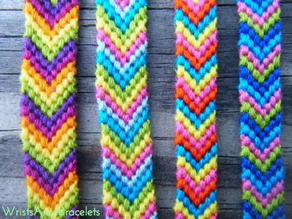colorful chevron friendship bracelet bestseller string