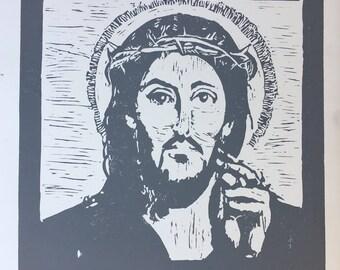 Christ (LE Linocut)