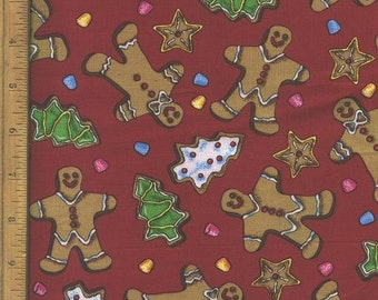 Cookies Gingerbread, Stars Christmas Tree, Gum Drops Fabric, Home Decor Quilting Crafting