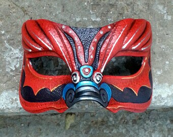 Dragon latex eye mask for LARP, costume, cosplay