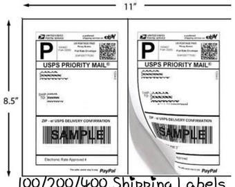 FREE SHIPPING! 100/200/400 Pack Self Adhesive Shipping Labels