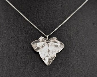 Handcrafted Silver Ivy Pendant - Unique and Gorgeous