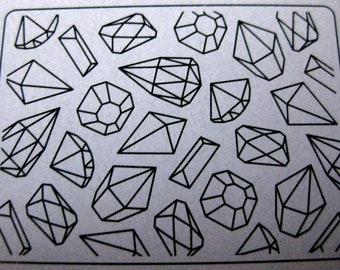 Gems Embossing Folder
