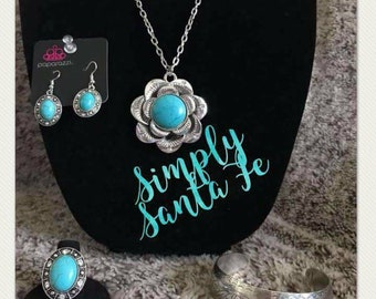 Blue Country Necklace Set