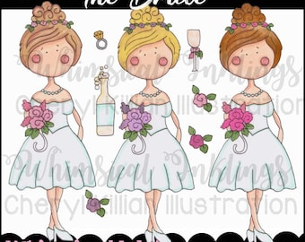 The Bride Clipart Collection- Immediate Download