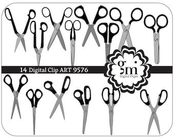 Scissors, Scissors Clip Art, Scissors Clipart, Scissors Digital Paper, ScissorsDigital, Instant Download, Black Scissors, Scissors Decor