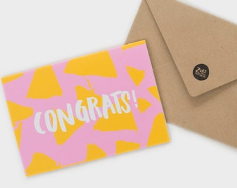 Congrats Card | Congratulations Card | Achievement Cards | Greeting Cards | Handmade Cards | Friendship Cards | Gift Card | Hand Lettering