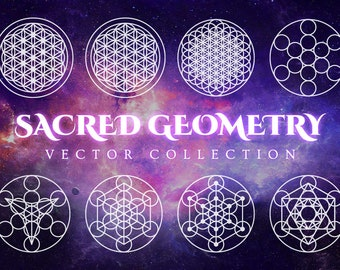 Sacred Geometry Vector Pack - 100+ Images for Adobe Illustrator or Photoshop - Decorative Ornamental Clip Art - Metaphysical Graphic Design