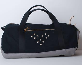 Gym Bag-Weekend Bag-Duffel Bag-Travel Bag-Luggage-Quilted Fabric Duffel Bag -Duffel Bag for Women-Duffel Bag for Men